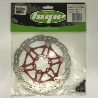 Hope mm2/4 saw disc 160mm 6bolt float - Red